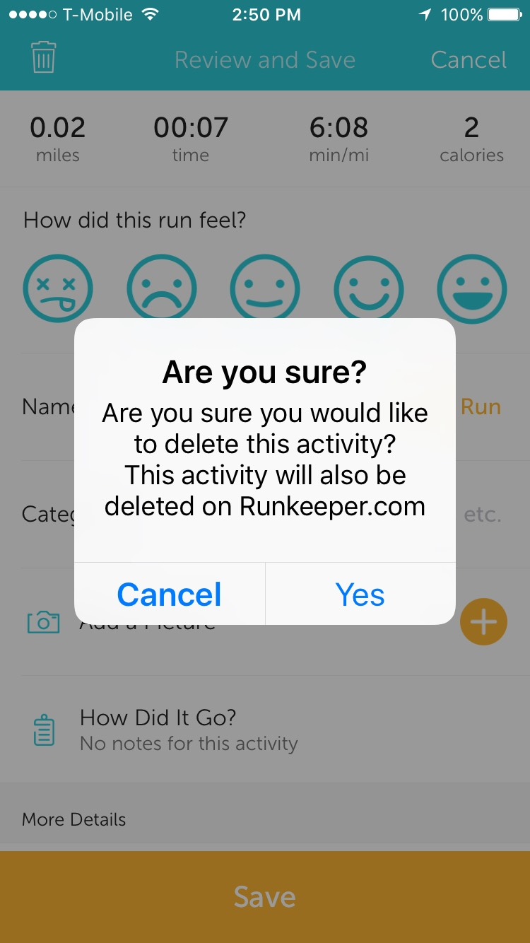 how to delete an activity u2013 runkeeper help center